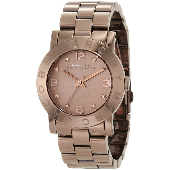 Marc Jacobs Women's MBM3119 Amy Crystal Brown Stainless Steel Watch