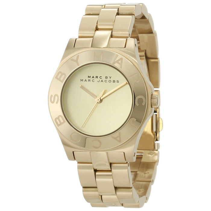 Marc Jacobs Women's MBM3126 Blade Gold-Tone Stainless Steel Watch