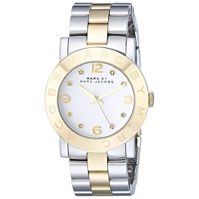 Marc Jacobs Women's MBM3139 Amy Crystal Two-Tone Stainless Steel Watch
