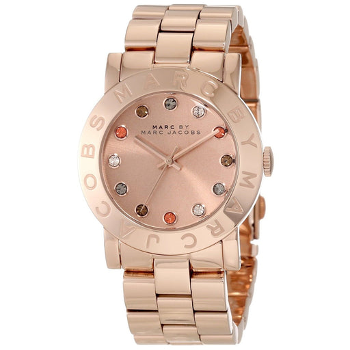 Marc Jacobs Women's MBM3142 Amy Crystal Rose-Tone Stainless Steel Watch