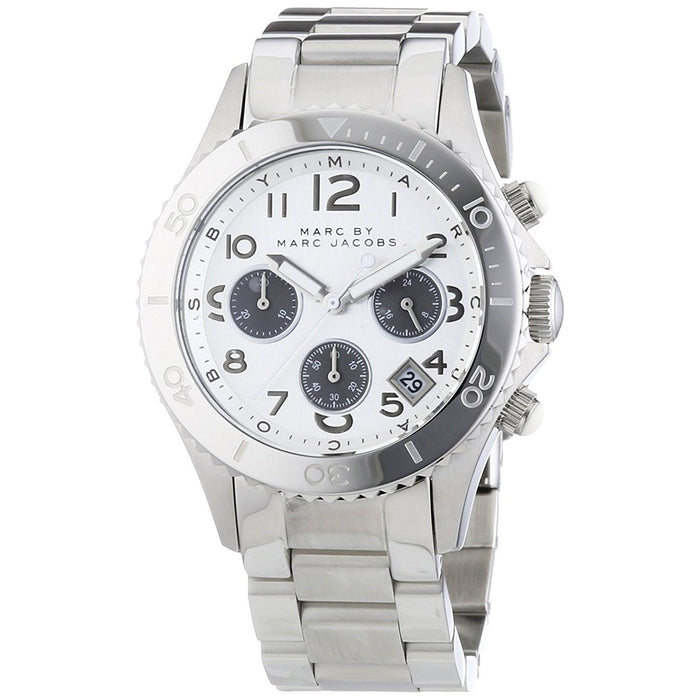 Marc Jacobs Women's MBM3155 Rock Chronograph Stainless Steel Watch