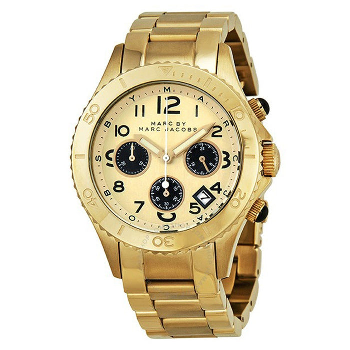 Marc Jacobs Women's MBM3158 Rock Chronograph Gold-Tone Stainless Steel Watch