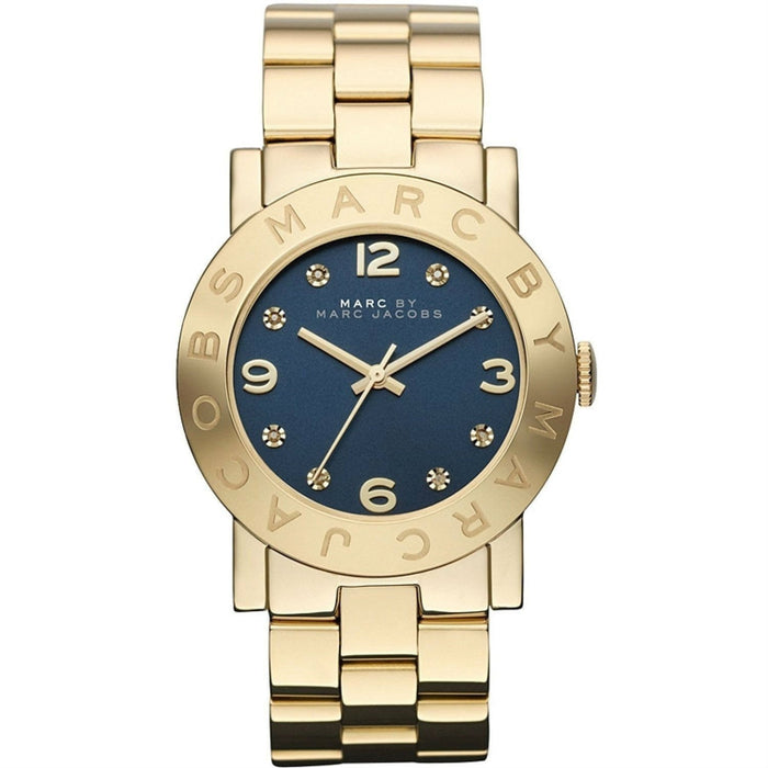 Marc Jacobs Women's MBM3166 Amy Crystal Gold-Tone Stainless Steel Watch