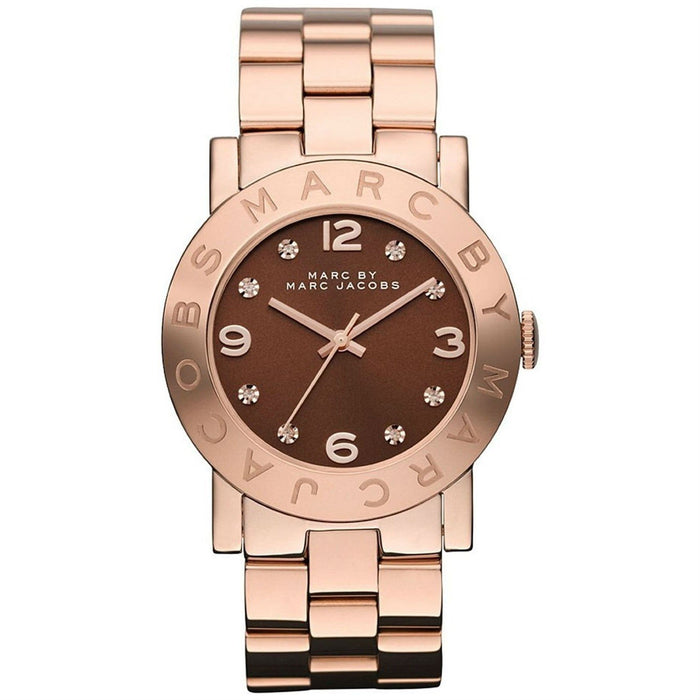Marc Jacobs Women's MBM3167 Amy Crystal Rose-Tone Stainless Steel Watch