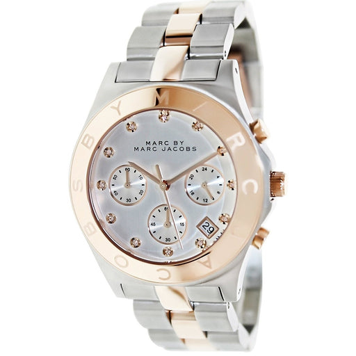 Marc Jacobs Women's MBM3178 Rock Chronograph Crystal Two-Tone Stainless Steel Watch