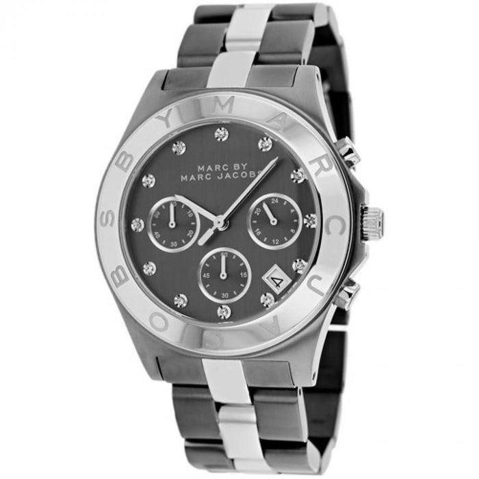 Marc Jacobs Women's MBM3179 Blade Chronograph Crystal Two-Tone Stainless Steel Watch