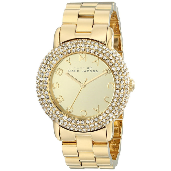 Marc Jacobs Women's MBM3191 Marci Crystal Gold-Tone Stainless Steel Watch