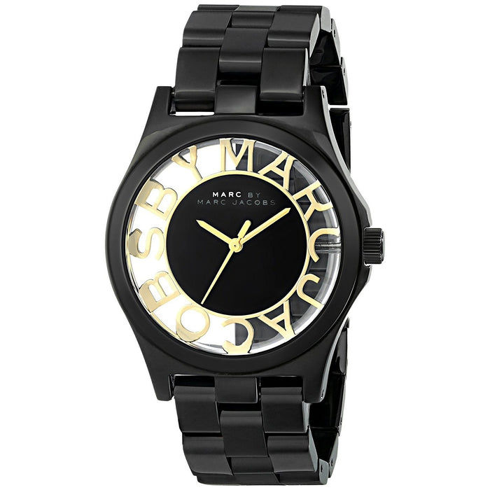 Marc Jacobs Women's MBM3255 Henry Black Stainless Steel Watch