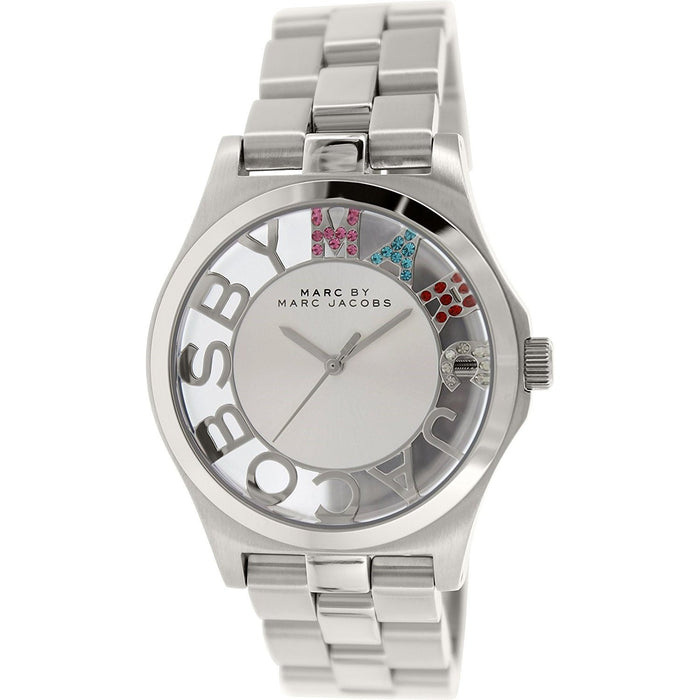 Marc Jacobs Women's MBM3262 Henry Skeleton Crystal Rose-Tone Stainless Steel Watch