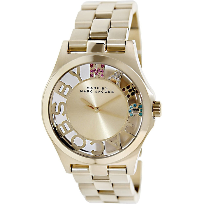 Marc Jacobs Women's MBM3263 Henry-Skeleton Gold-Tone Stainless Steel Watch