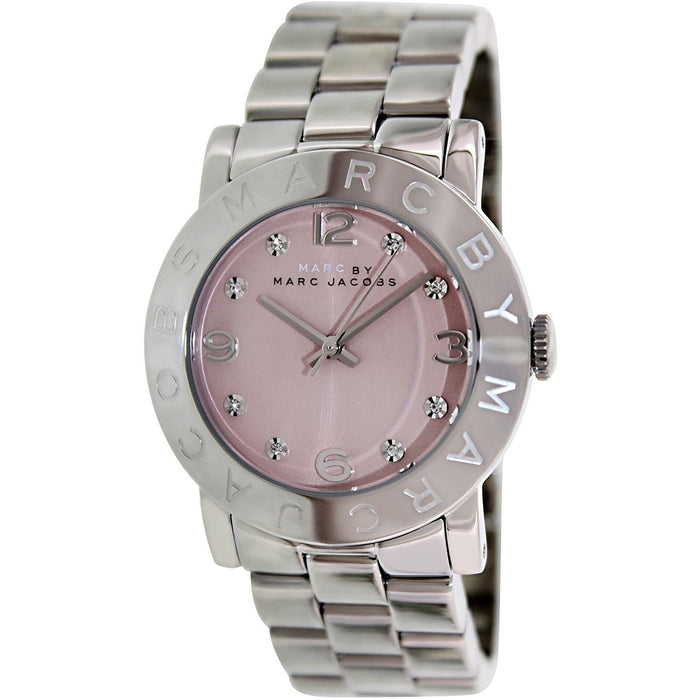 Marc Jacobs Women's MBM3300 Amy Crystal Stainless Steel Watch