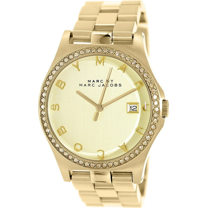 Marc Jacobs Women's MBM3361 Henry Crystal Gold-Tone Stainless Steel Watch