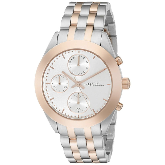 Marc Jacobs Women's MBM3369 Peeker Chronograph Two-Tone Stainless Steel Watch