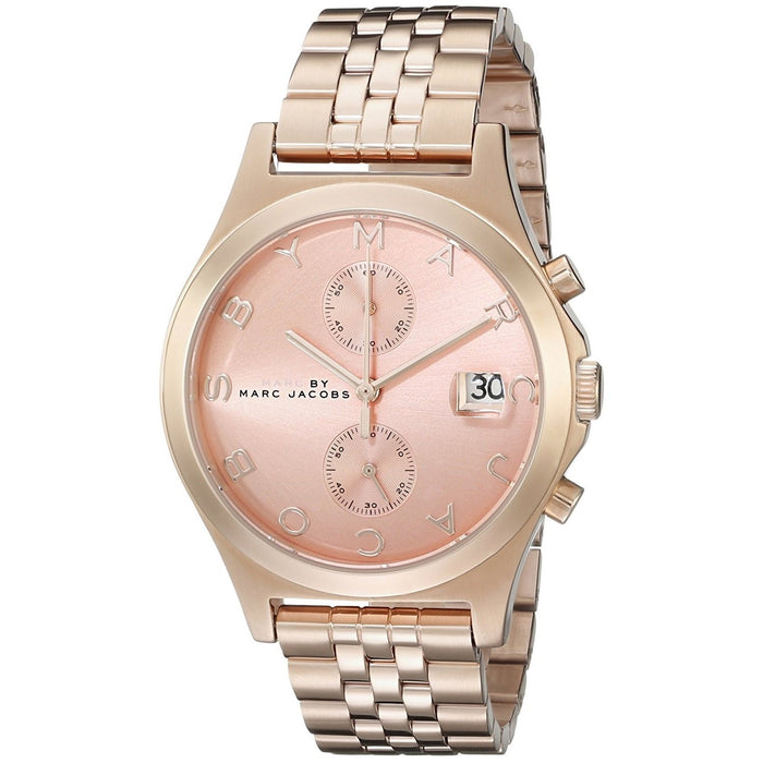 Marc Jacobs Women's MBM3384 Fergus Chronograph Rose-Tone Stainless Steel Watch