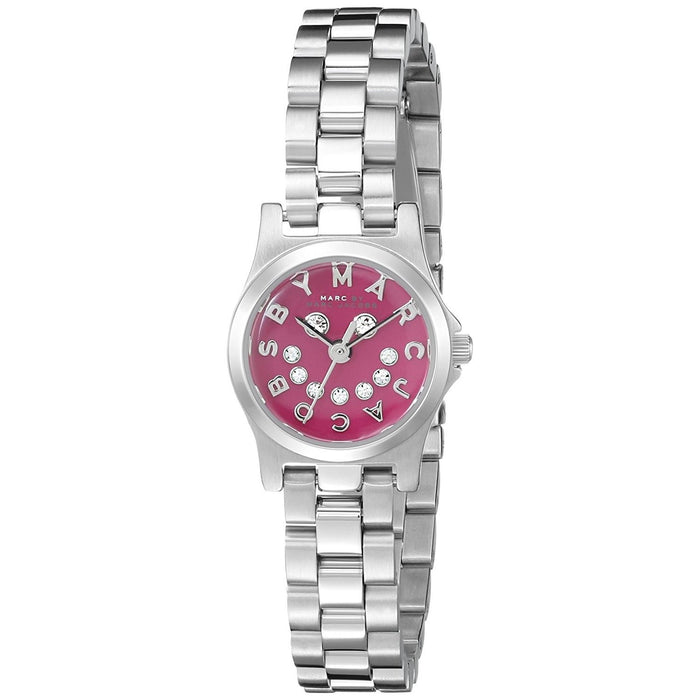 Marc Jacobs Women's MBM3385 Henry Smile Crystal Stainless Steel Watch