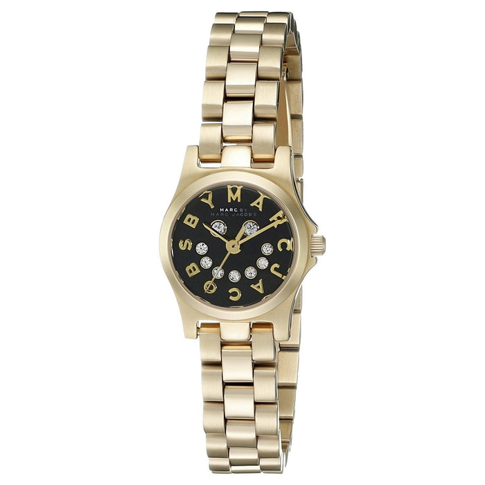 Marc Jacobs Women's MBM3386 Henry Smile Crystal Gold-Tone Stainless Steel Watch