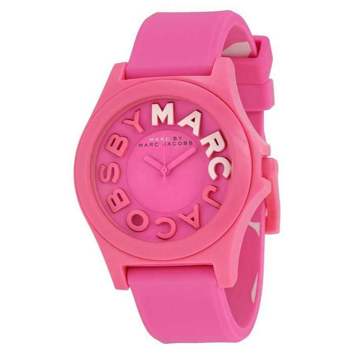Marc Jacobs Women's MBM4023 Sloane Pink Silicone Watch