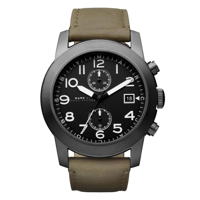 Marc Jacobs Men's MBM5034 Larry Chronograph Olive Leather Watch