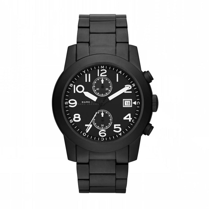 Marc Jacobs Men's MBM5052 Larry Chronograph Black Stainless Steel Watch