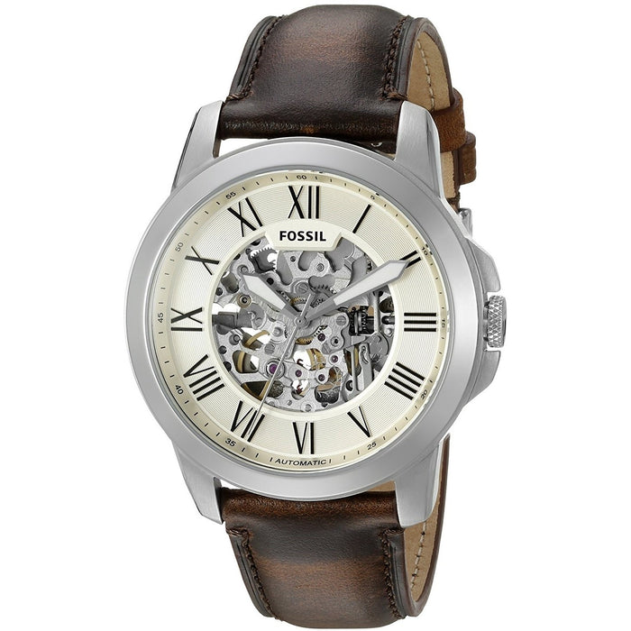 Fossil Men's ME3099 Townsman Automatic Brown Leather Watch
