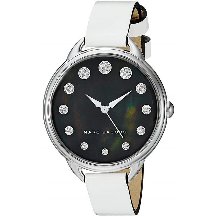 Marc Jacobs Women's MJ1510 Betty Crystal White Leather Watch