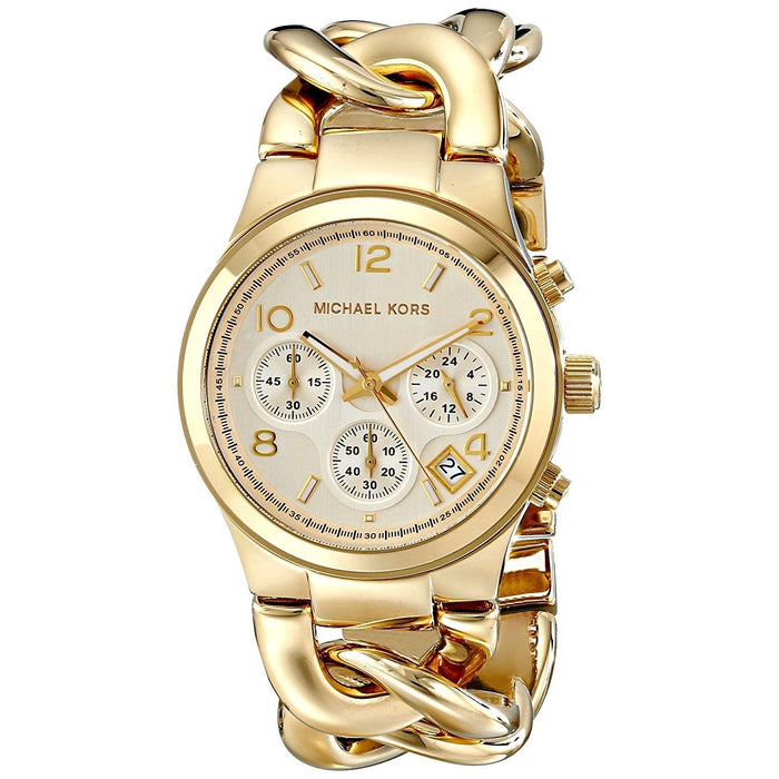 b9a8c9cb3d36 Michael Kors Women s MK3131 Runway Chronograph Gold-tone Stainless Steel  Watch