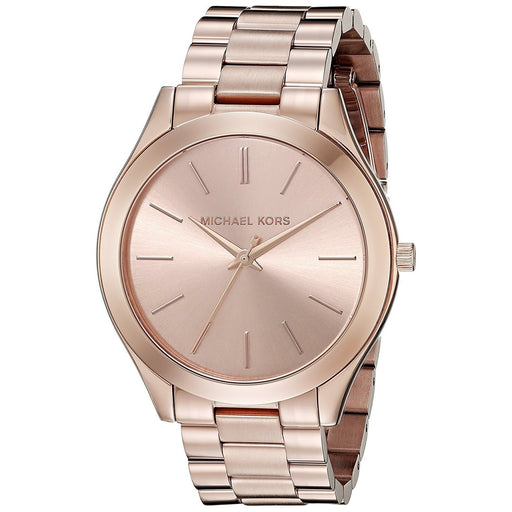 Michael Kors Women's MK3197 Slim Runway Rose-Tone Stainless Steel Watch