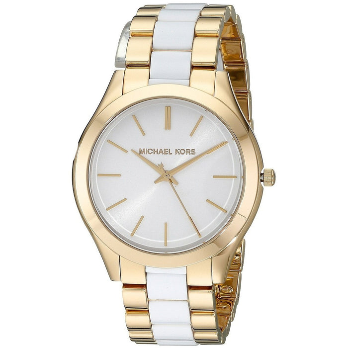 83d9471e57ab Michael Kors Women s MK4295 Slim Runway Two-Tone Stainless Steel Watch