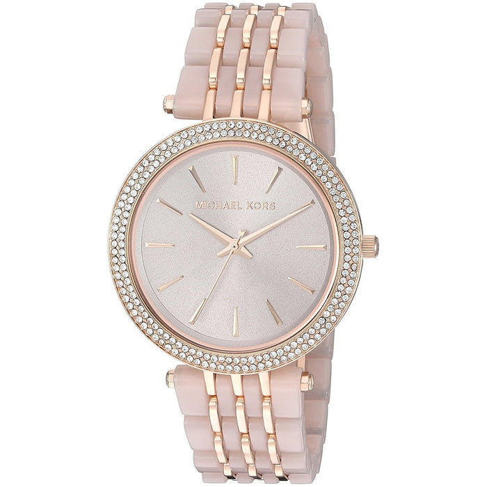 45659d755c5d Michael Kors Women s MK4327 Darci Crystal Pink and Rose-Tone Stainless  steel and Acetate Watch