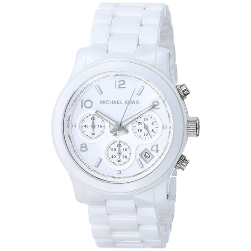 Michael Kors Women's MK5161 Runway Chronograph White Ceramic Watch