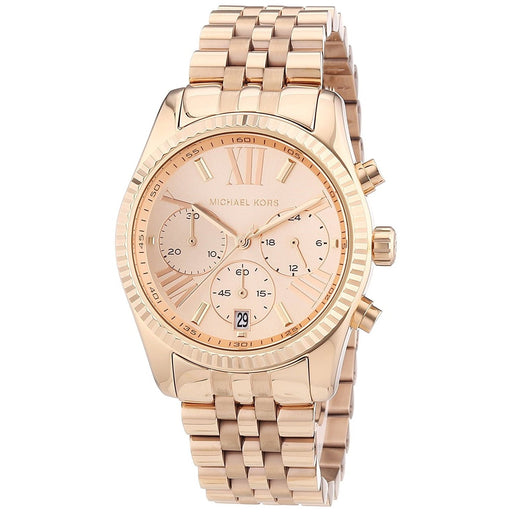 Michael Kors Women's MK5569 Lexington Chronograph Rose-Tone Stainless Steel Watch