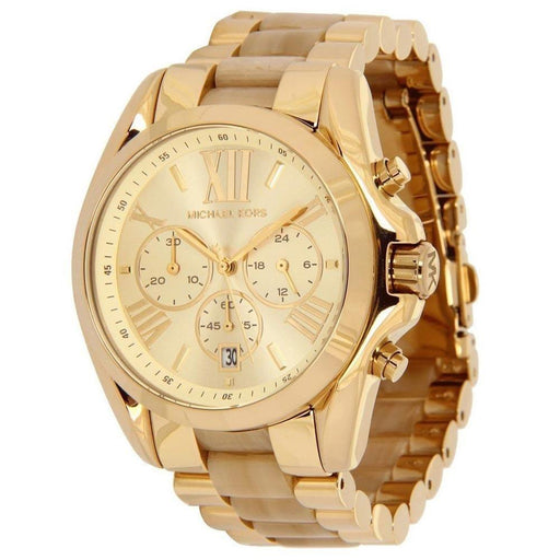 Michael Kors Women's MK5722 Bradshaw Chronograph Gold-Tone Stainless steel and Acetate Watch