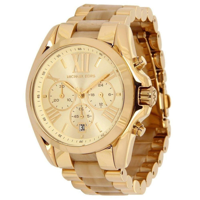 067d0322c Michael Kors Women's MK5722 Bradshaw Chronograph Gold-Tone Stainless steel  and Acetate Watch