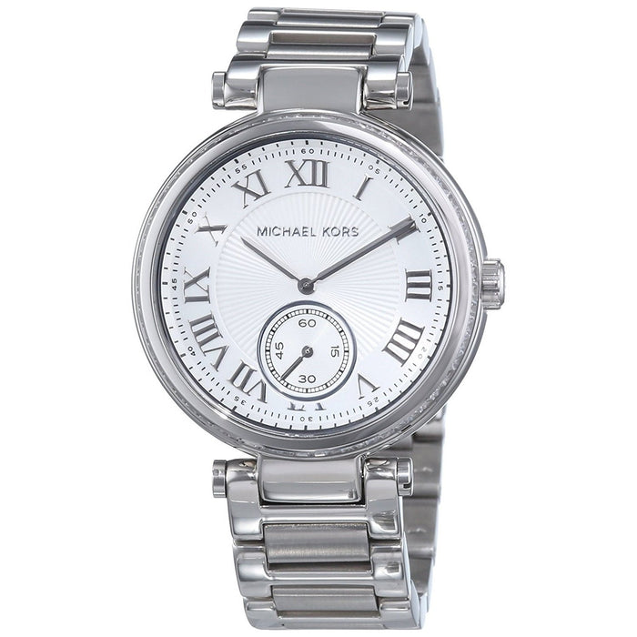 5ddf616c0e77 Michael Kors Women s MK5866 Skylar Crystal Stainless Steel Watch ...
