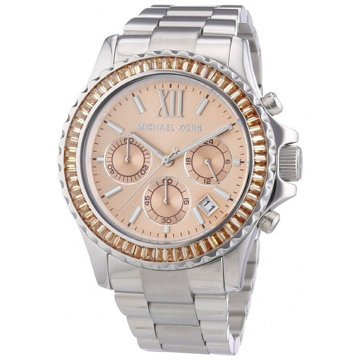 Michael Kors Women's MK5870 Everest Chronograph Crystal Stainless Steel Watch