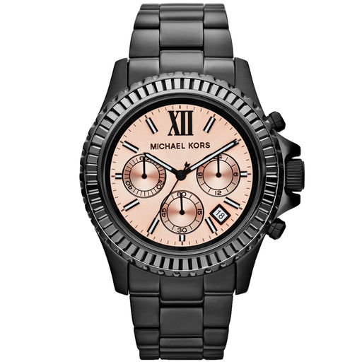 d9f3de96fa26 Michael Kors Women s MK5872 Everest Chronograph Black Stainless Steel Watch
