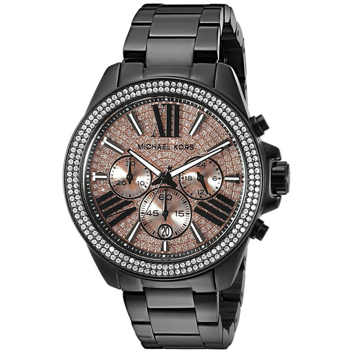 db80fd83cfa7 Michael Kors Women s MK5879 Everest Chronograph Black Stainless Steel Watch