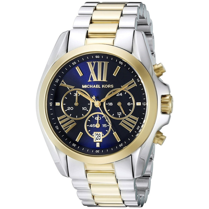 Michael Kors Women's MK5976 Bradshaw Chronograph Two-Tone Stainless Steel Watch