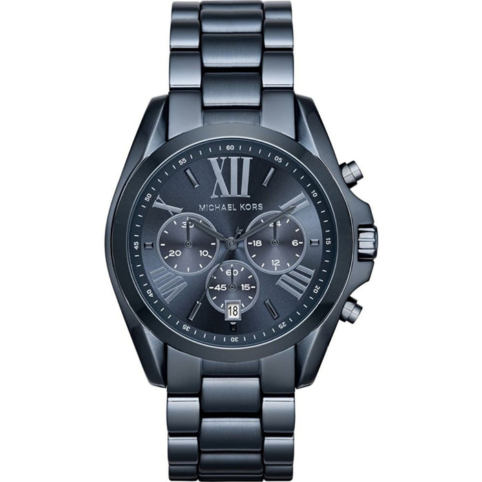 Michael Kors Women's MK6248 Bradshaw Chronograph Blue Stainless Steel Watch