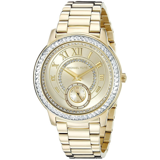5c3db7980f94 Michael Kors Women s MK6287 Madelyn Crystal Gold-Tone Stainless Steel Watch