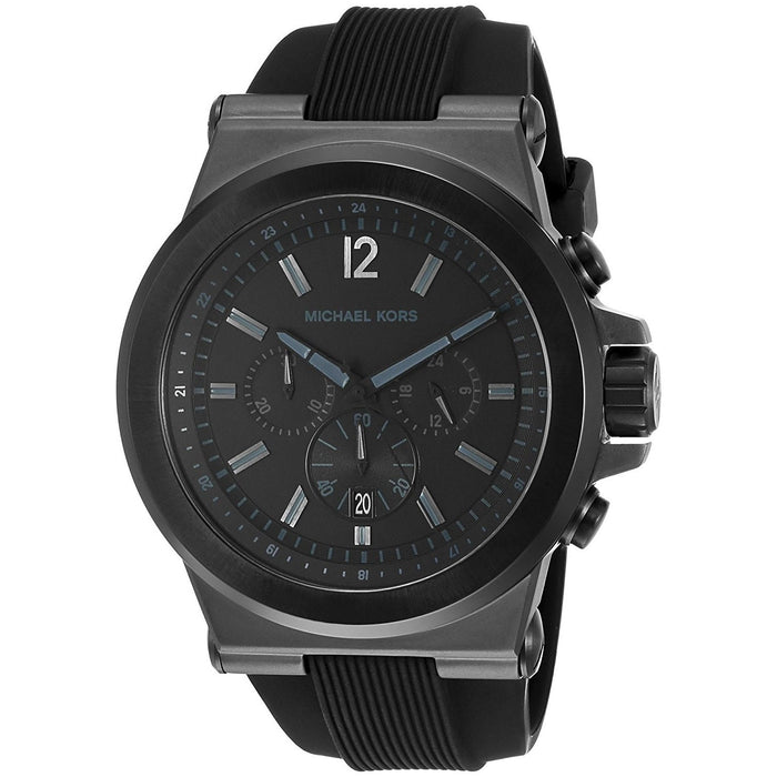 Michael Kors Men's MK8152 Dylan Chronograph Black Silicone Watch