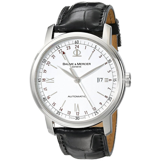 Baume & Mercier Men's MOA08462 Classima Executives Automatic Black Leather Watch
