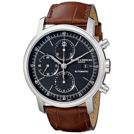 Baume & Mercier Men's MOA08589 Classima Executives Chronograph Automatic Brown Leather Watch