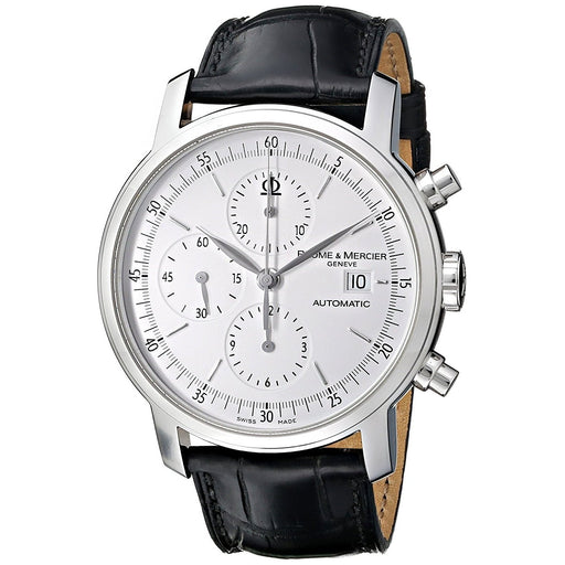 Baume & Mercier Men's MOA08591 Classima Executives Chronograph Automatic Black Leather Watch
