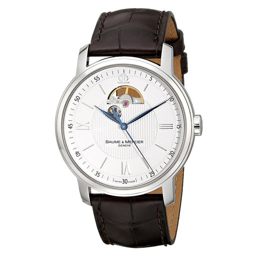 Baume & Mercier Men's MOA08688 Classima Executives Open Wheel Automatic Brown Leather Watch