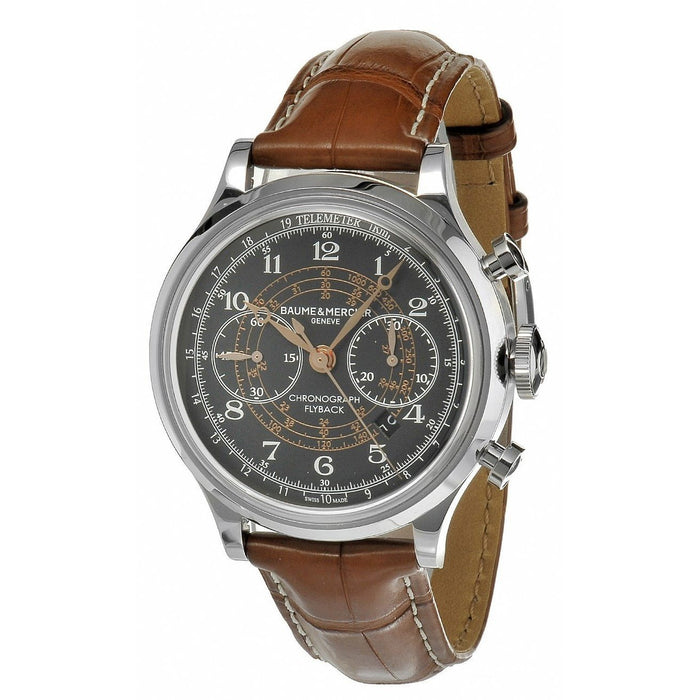 Baume & Mercier Men's MOA10068 Capeland Chronograph Automatic Brown Leather Watch