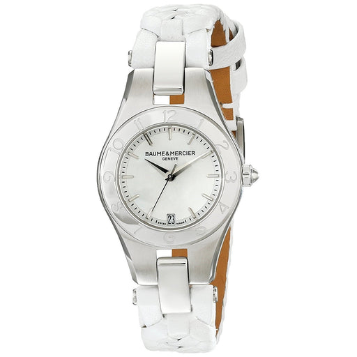 Baume & Mercier Women's MOA10117 Linea White Leather Watch