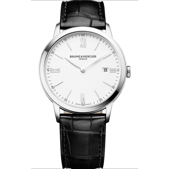 Baume & Mercier Men's MOA10323 Classima Black Leather Watch