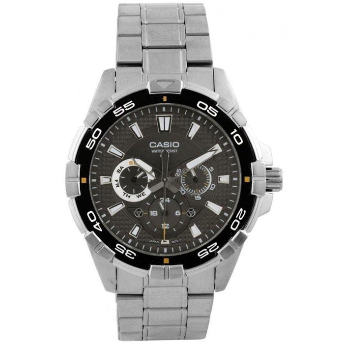 Casio Men's MTD1069D-1A Casio Chronograph Stainless Steel Watch