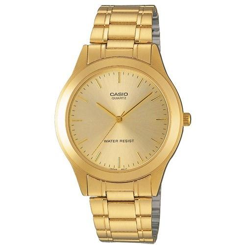 Casio Men's MTP-1128N-9A Fashion Gold-Tone Stainless Steel Watch